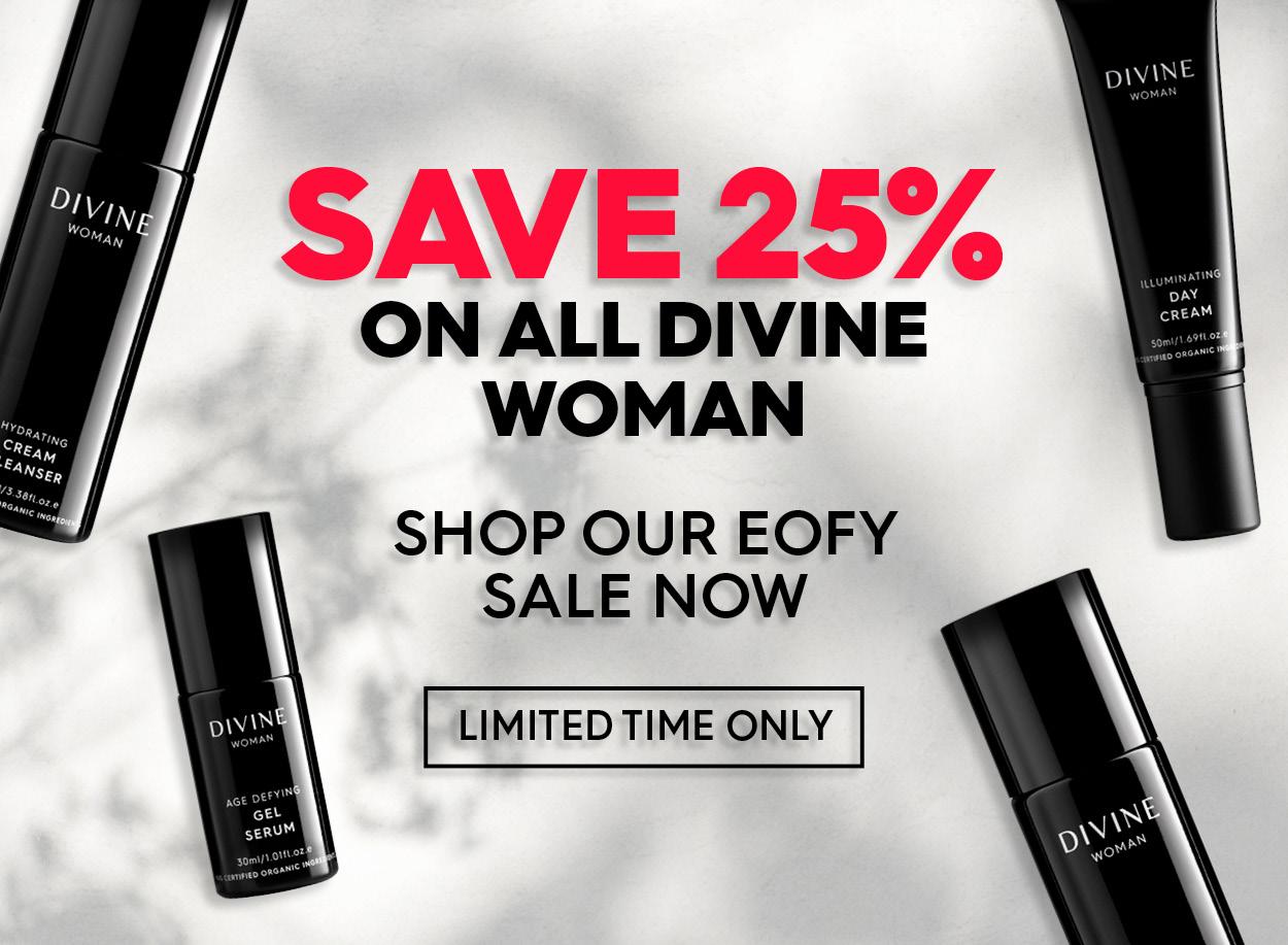 25% of divine woman skincare